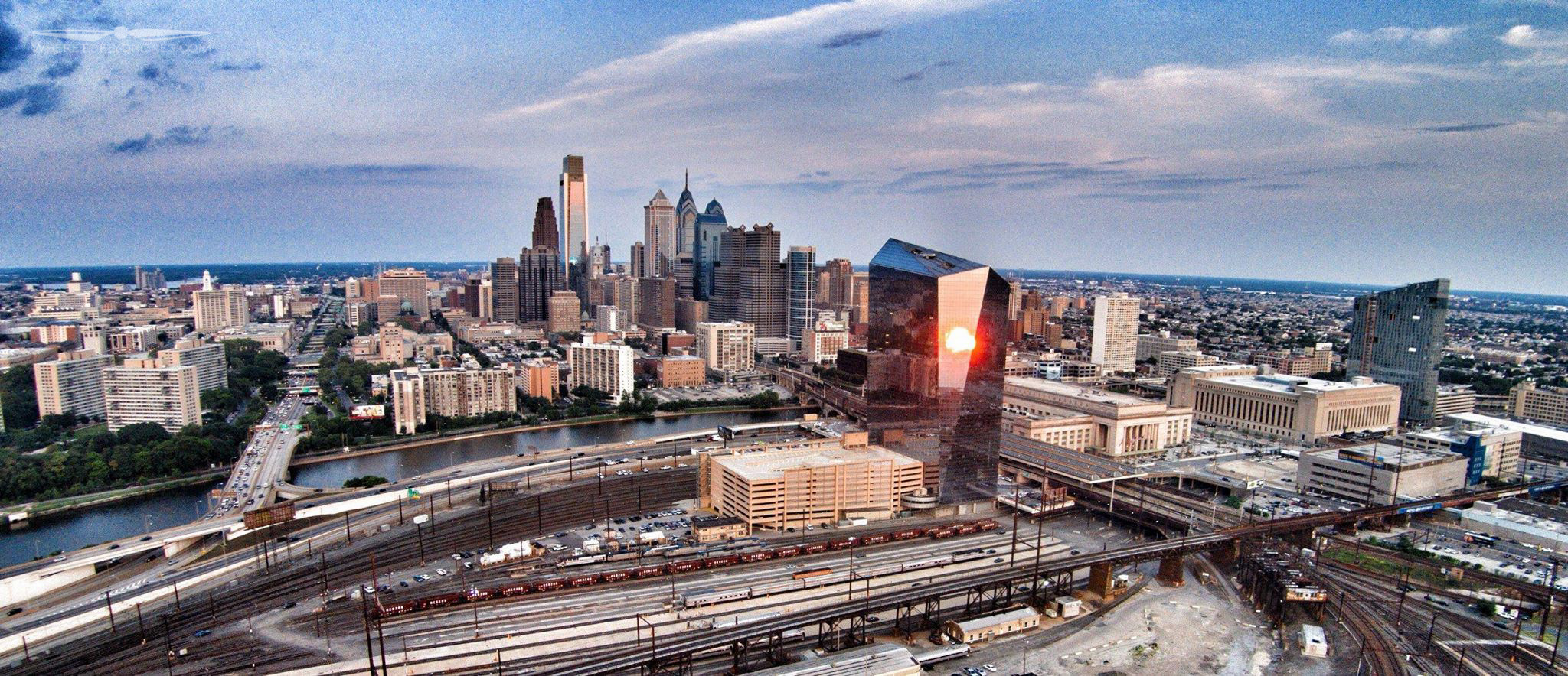 Phila Sunset Reflection July 2014-2