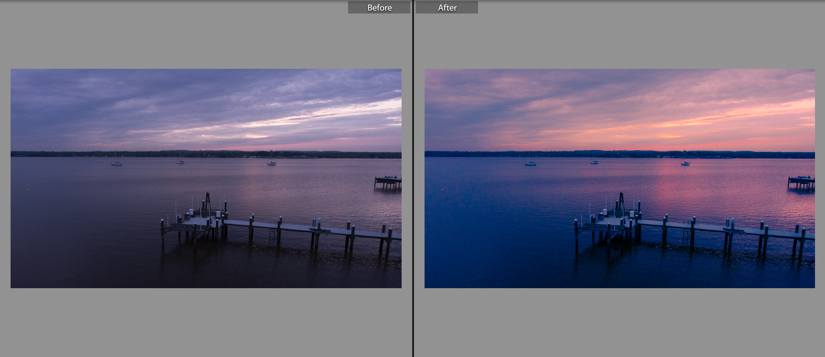 Sunset Glory before after